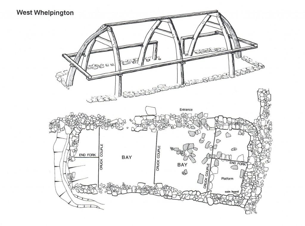 Excavated 13th-century building